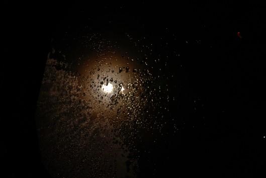 The moon peeking through the skylight. Mmmm sleep tight.