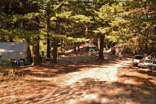 Lucky Peak Field Station campsite