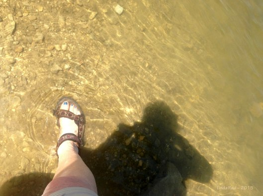 Dipping my little foot into the Donau