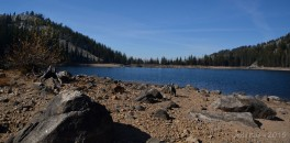 Taken from the sand bar that now cuts Boulder Lake in two.