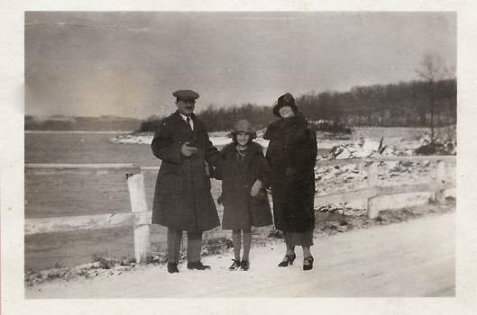 Uncle, Yry, Mammy at Kensico Dam; 1925