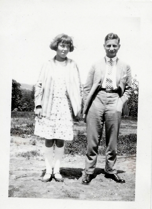 """With Robert who lived with us for a while. 1927"""