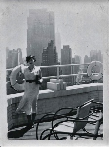 Yry on the roof of the Barbizon 1934