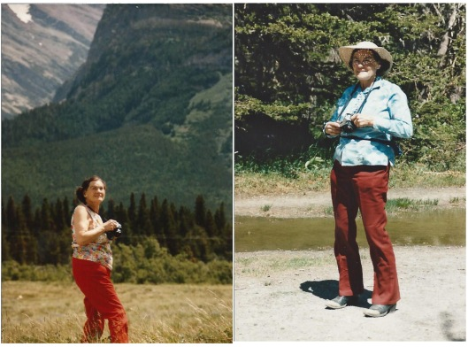 Mother taking in the glory of Glacier National Park