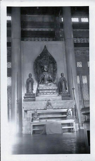 A god in a Chinese Temple 1939