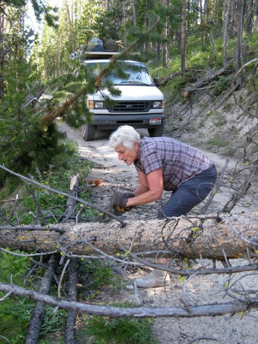 Me sawing